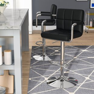 Somers Adjustable Height Bar Stool Wade Logan