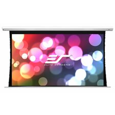 Saker White 73.5 H x 130.7 W Electric Projection Screen by Elite Screens