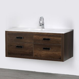 Compare prices 47 Wall-Mounted Single Bathroom Vanity Set By Streamline Bath