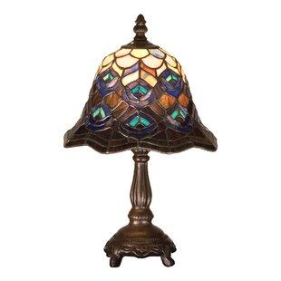 Tiffany Peacock Feather 13.5 Mini Lamp