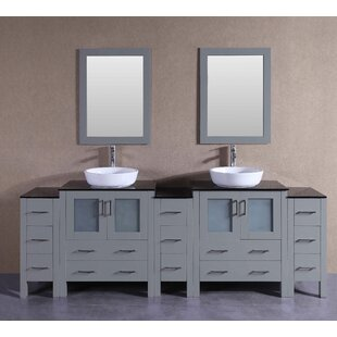 Abbey 96 Double Bathroom Vanity Set with Mirror by Bosconi