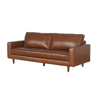 Modern & Contemporary Leather Sofas You\'ll Love | Wayfair