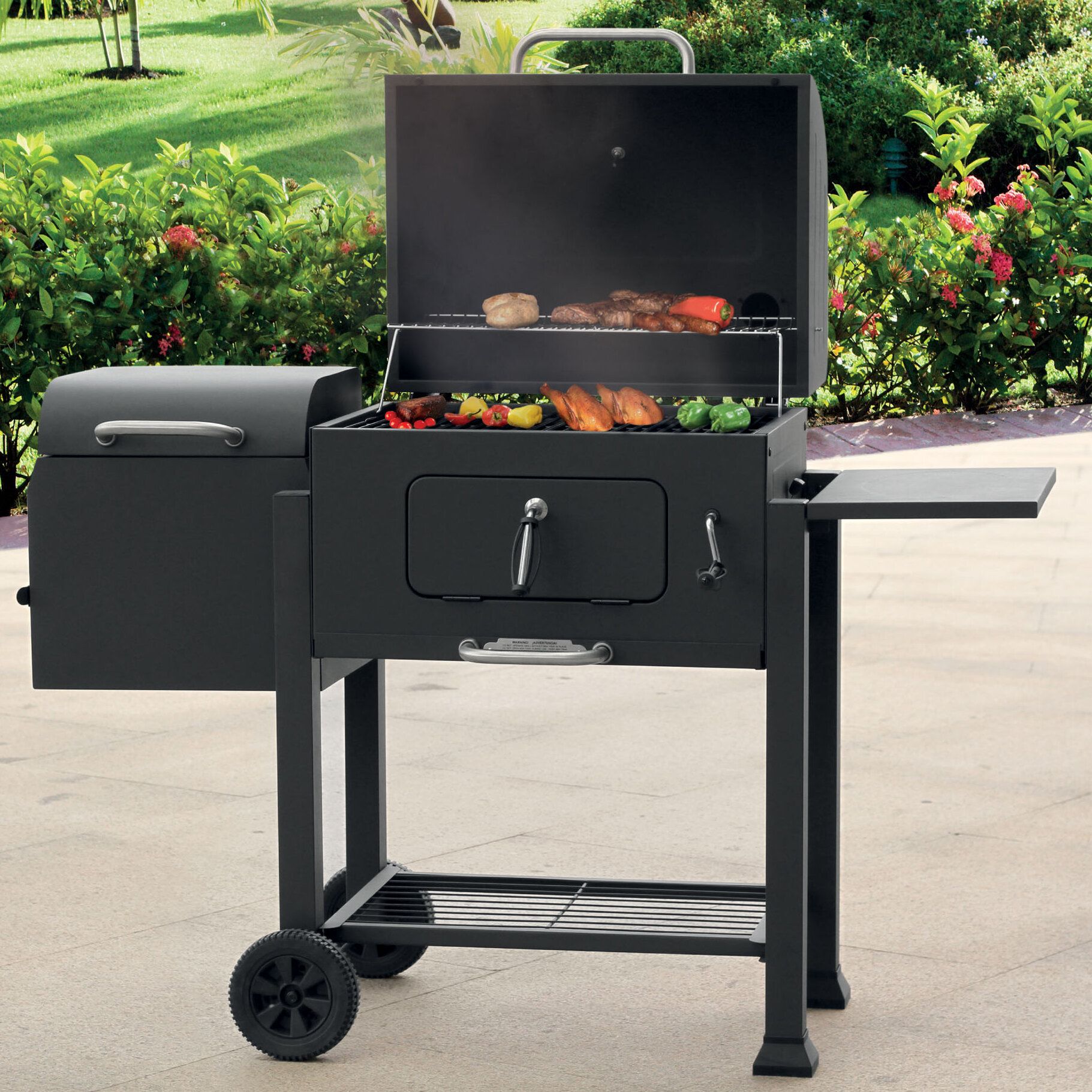 Landmann 11 Vista Barbecue Charcoal Grill With Smoker Reviews Wayfair
