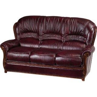 "Leslie Leather 78"" Flared Arms Sofa by Fleur De Lis Living SKU:ED889012 Reviews"