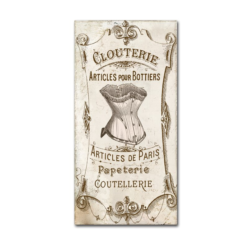 Trademark Art Signes Francais Iii By Color Bakery Vintage Advertisement On Wrapped Canvas Wayfair
