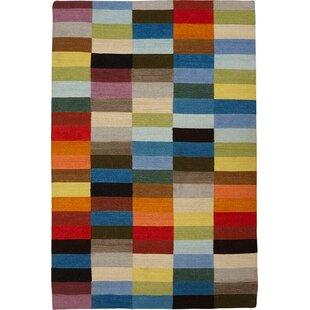 Benton Handmade Kilim Wool Red/Orange Rug by Metro Lane