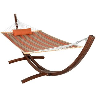 Sundale Outdoor Lazy Daze Double Tree Hammock with Stand