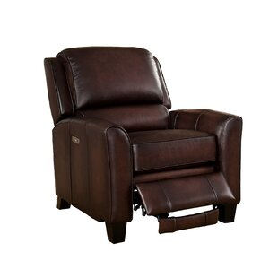 Amax Yale Leather Power Recliner with USB Port