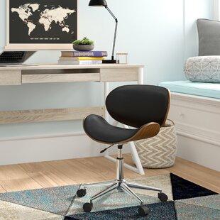 Black Curved Desk Chair Wayfair