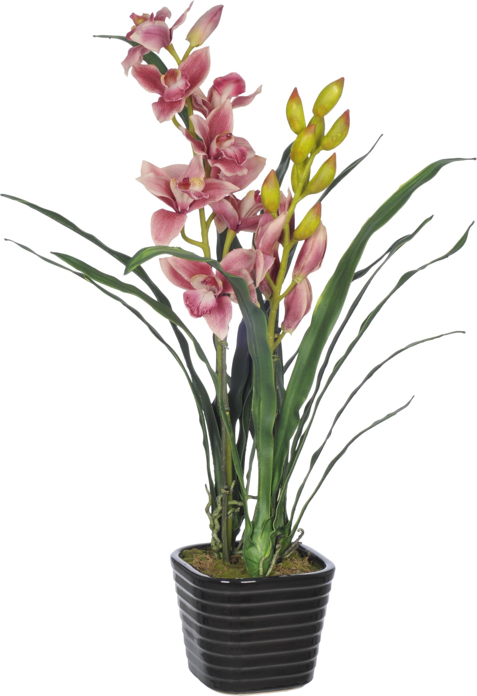 House of silk flowers faux fuchsia cymbidium orchid flower in vase house of silk flowers faux fuchsia cymbidium orchid flower in vase reviews wayfair reviewsmspy