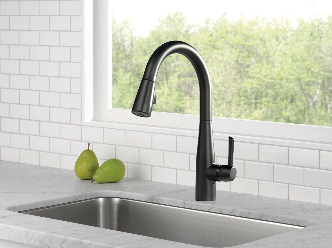 Delta Essa Single Handle Pull Down Standard Kitchen Faucet ...