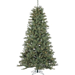 Pre-Lit 7.5' Green Spruce Tree Artificial Christmas Tree