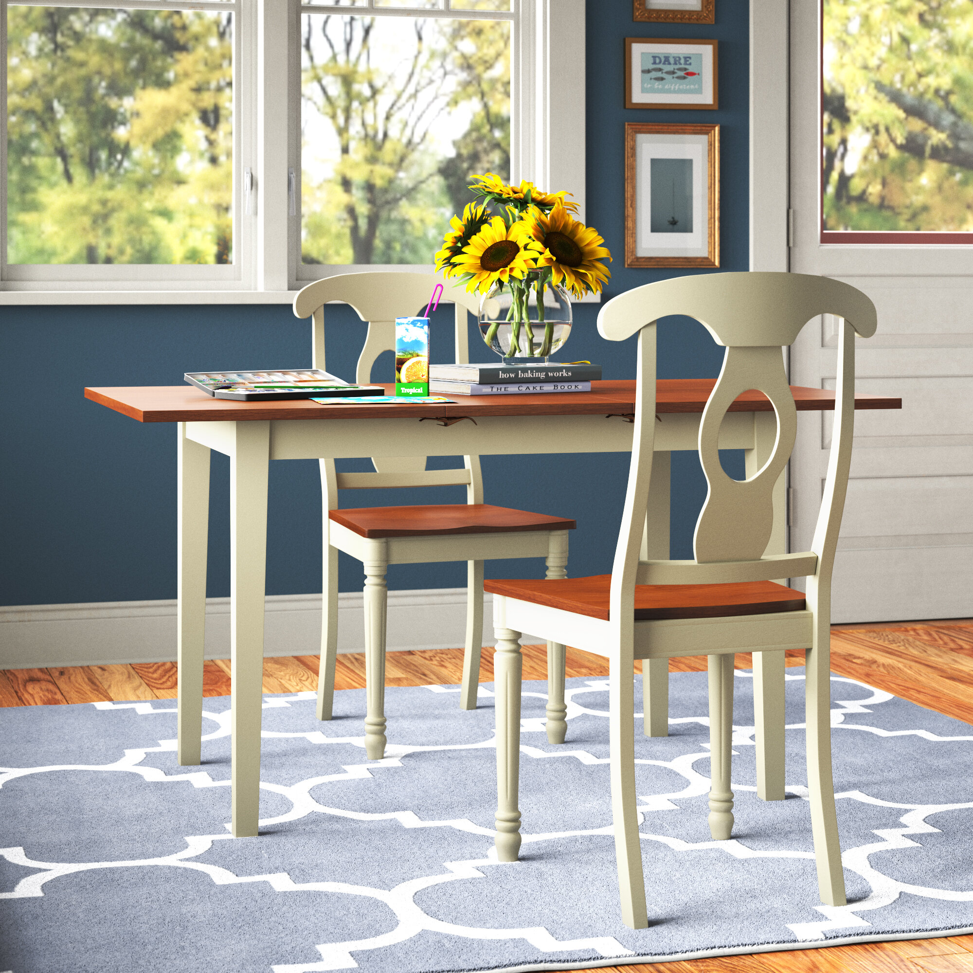 Andover Mills Antonio Butterfly Leaf Dining Set Reviews Wayfair