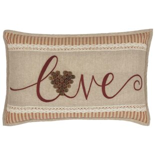 Roese Love 100% Cotton Lumbar Pillow