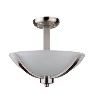 Mickayla 2-Light Semi Flush Mount by Whitfield Lighting