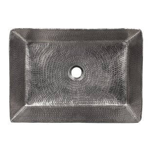 Buy luxury Hammered Metal Rectangle Vessel Bathroom Sink ByPremier Copper Products