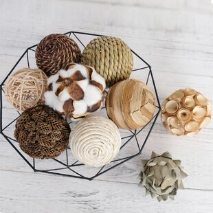 9Pcs 3.5Inch Woven Wicker Rattan Balls Decorative Ball Twig Orbs Green Orbs Vase Bowl Filler For Tabletop Decoration