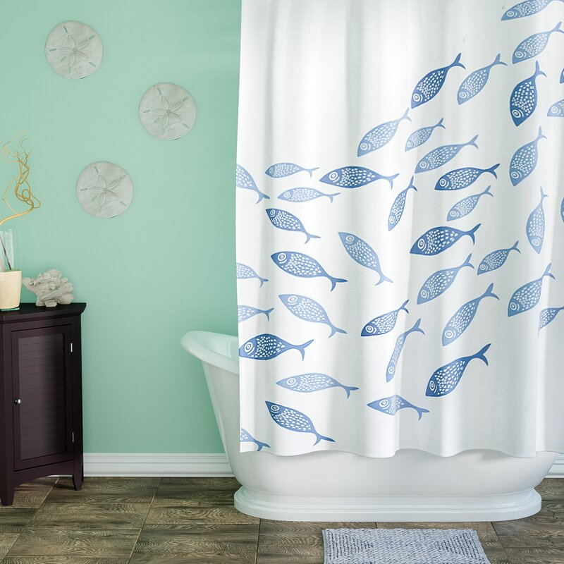 Nice Cedarville Polyester Coastal Shower Curtain