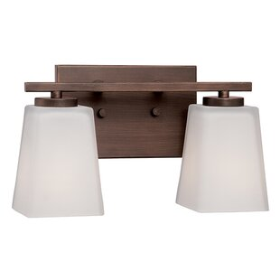 Reviews Wickham 2-Light Vanity Light By Fleur De Lis Living