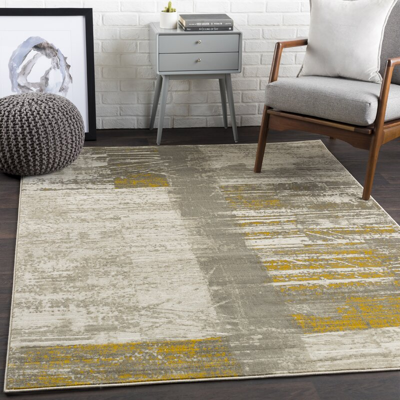 Trent Austin Design Chartwell Light Gray/Gold Area Rug