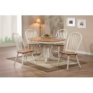 Florentia 5 Piece Extendable Solid Wood Dining Set Beachcrest Home