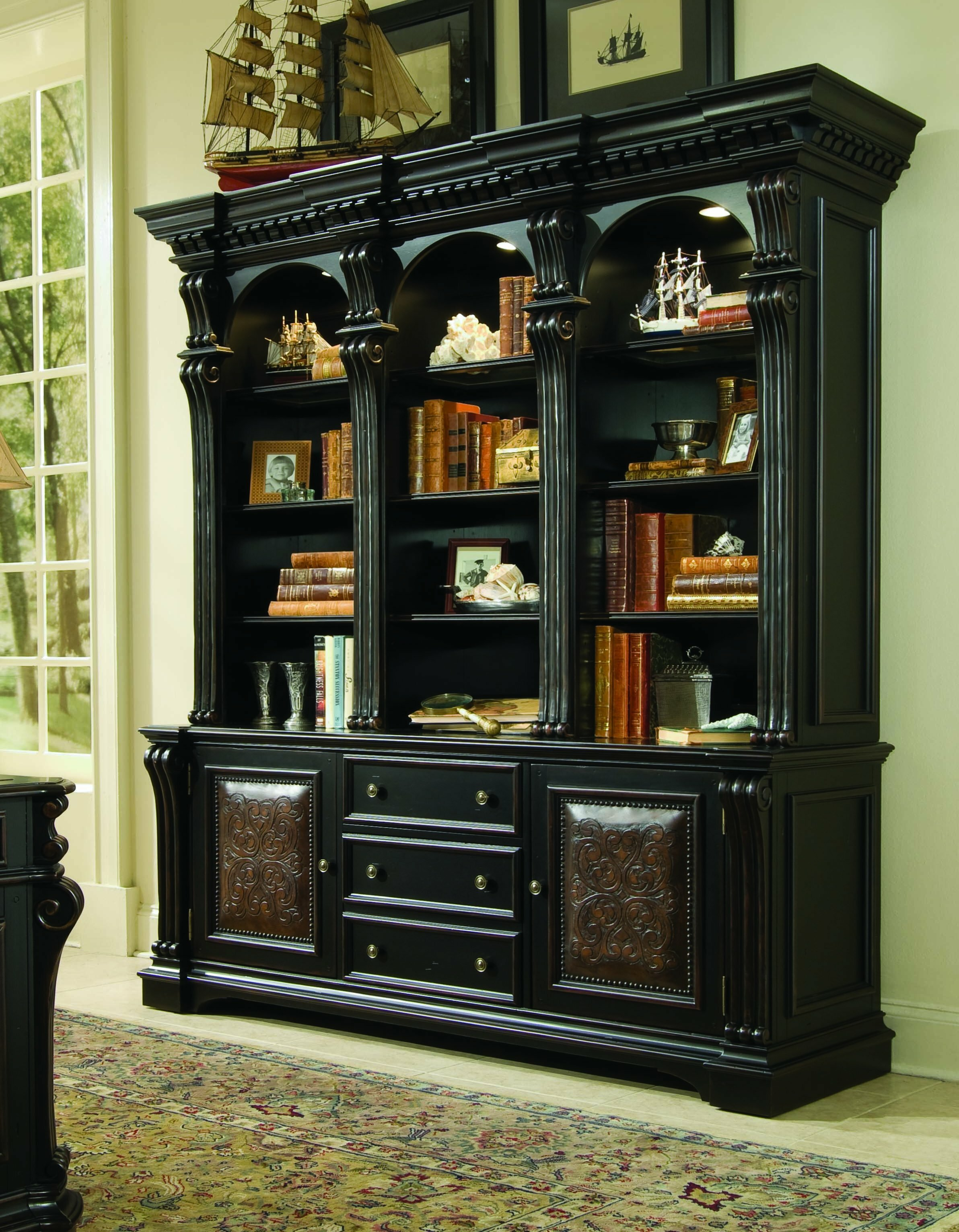 Telluride Oversized Library Bookcase By Hooker Furniture