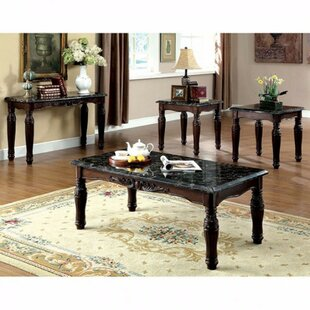 Astoria Grand Fredrika Faux Marble Top 3 Piece Coffee Table Set