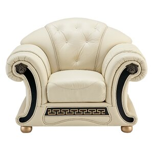 Berrylawn Leather Armchair by Astoria Grand