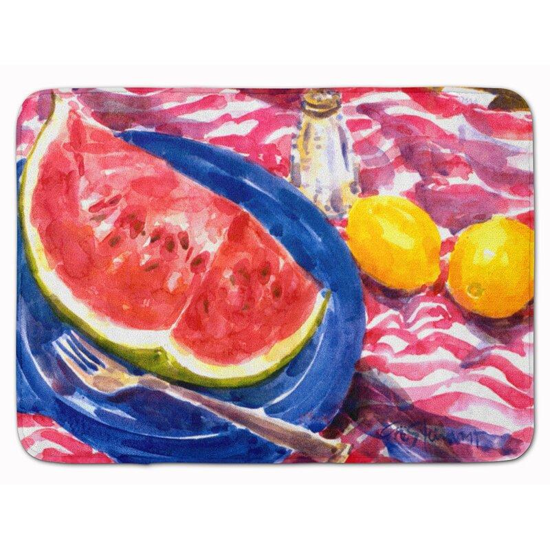 East Urban Home Watermelon Rectangle Microfiber Non Slip Bath Rug Wayfair