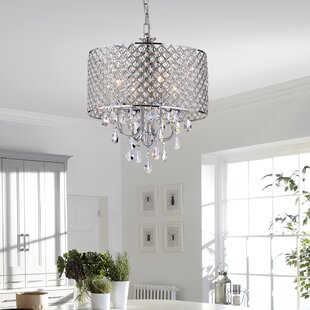 Crystal bedroom chandelier wayfair von 4 light crystal chandelier aloadofball Gallery
