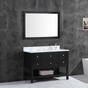 Keesha 47.5 Single Bathroom Vanity Set with Mirror By Wrought Studio