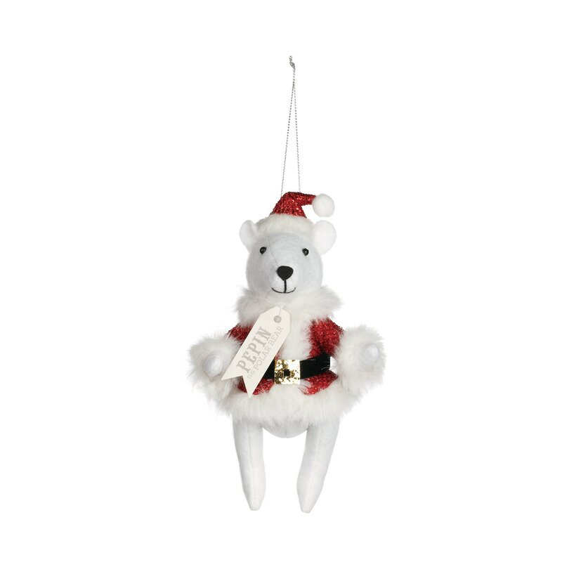 The Holiday Aisle Pepin The Polar Bear Santa Hanging Figurine Ornament Wayfair