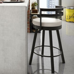 Brookford 26.63 Swivel Bar Stool Latitude Run