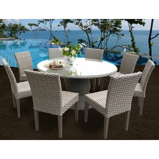 Meeks 9 Piece Dining Set with Cushions By Rosecliff Heights