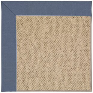 Lisle Machine Tufted Azure/Brown Indoor/Outdoor Area Rug by Longshore Tides Best #1