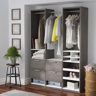 Read Reviews Sampson Reach 58.5 W Closet System ByLaurel Foundry Modern Farmhouse