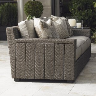 Blue Olive Patio Sofa with Cushions by Tommy Bahama Outdoor