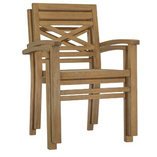Dunaway Stacking Patio Dining Chair (Set of 3)