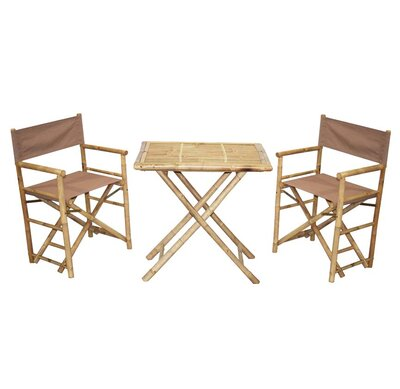 Surprising Bamboo54 3 Piece Bistro Set Color Beige Bralicious Painted Fabric Chair Ideas Braliciousco
