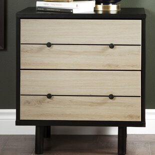 Langley Street Bookout 2 Drawer Nightstand