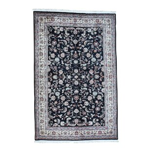 One-of-a-Kind Ruelas Sino Dense Weave Hand-Knotted Black Area Rug ByAstoria Grand