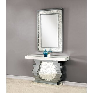 "Iona 47"" Console Table and Mirror by Rosdorf Park SKU:CB841843 Guide"