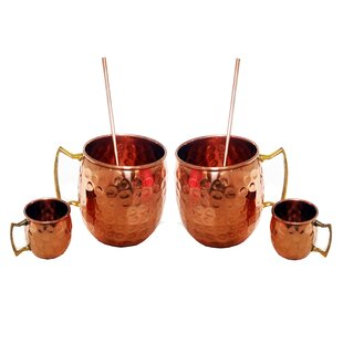 Heile 6 Piece Copper Assorted Glassware Set