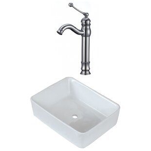 Find for Above Counter Ceramic Rectangular Vessel Bathroom Sink with Faucet By Royal Purple Bath Kitchen