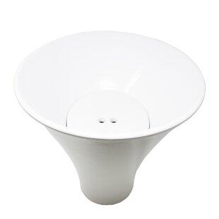 Affordable Deco Ceramic Circular Vessel Bathroom Sink ByWS Bath Collections