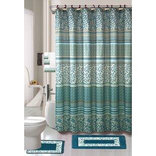 Satter 18 Piece Shower Curtain Set ByLatitude Run