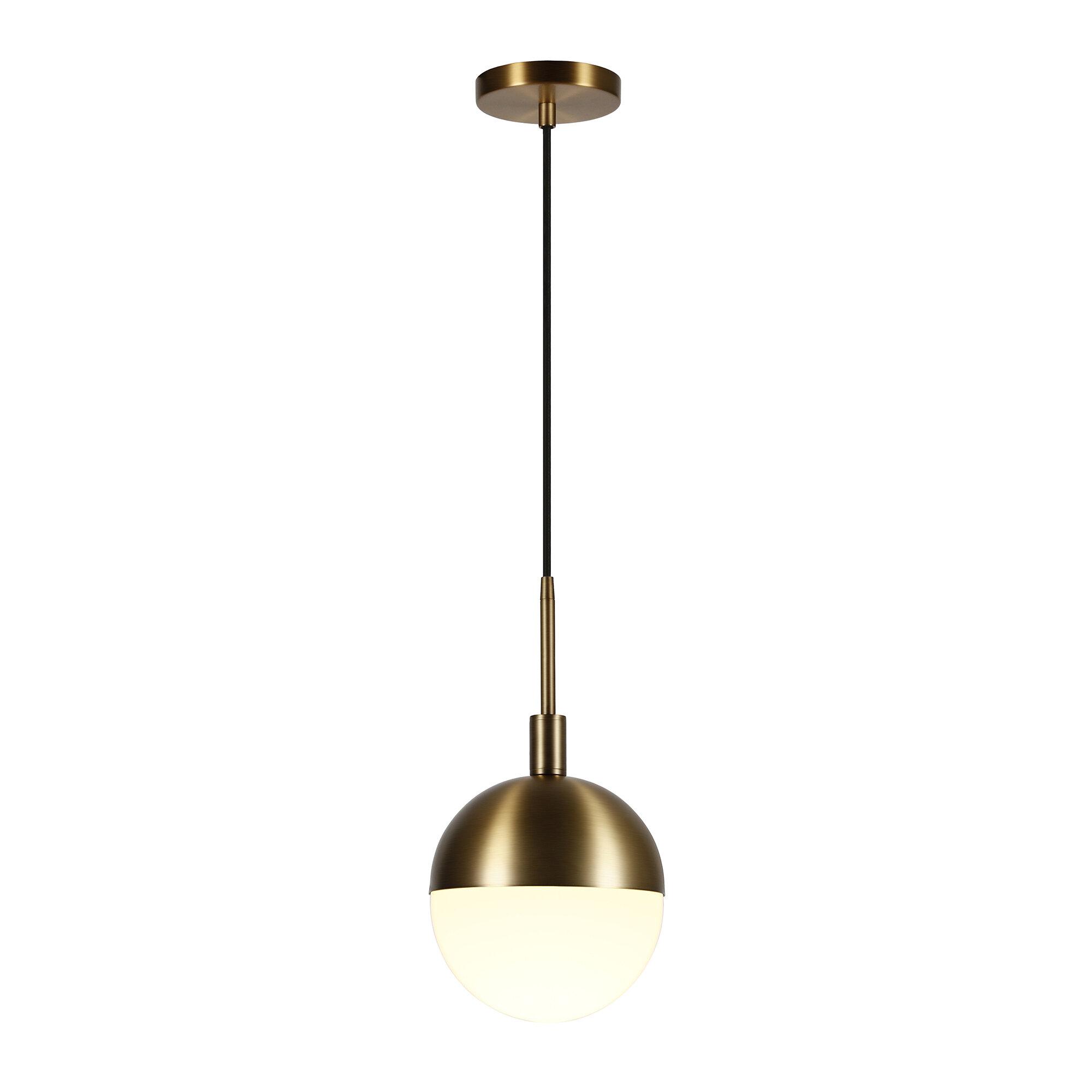 George Oliver Papineau 1 Light Single Globe Pendant Reviews Wayfair
