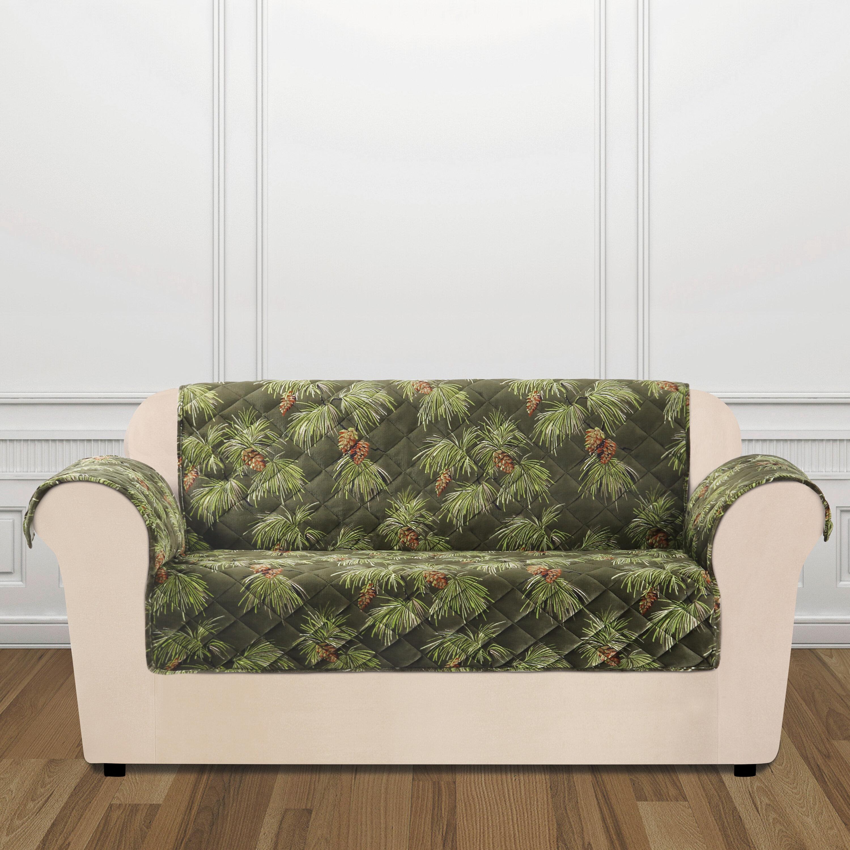 Sure Fit Lodge Pinecone Box Cushion