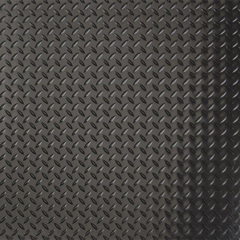 G Floor Common Diamond 7 5 Ft X 17 Ft Garage Flooring Roll In Black Wayfair