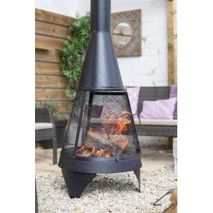Steel Wood Burning Chiminea By Belfry Heating
